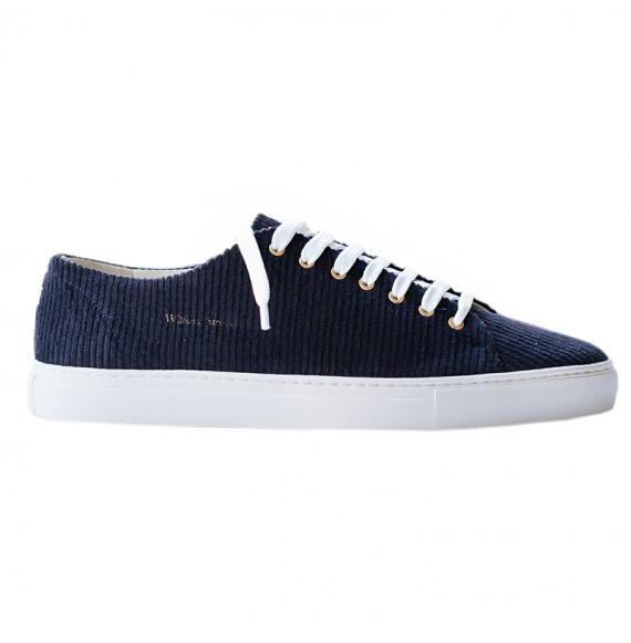 Navy corduroy sneakers
