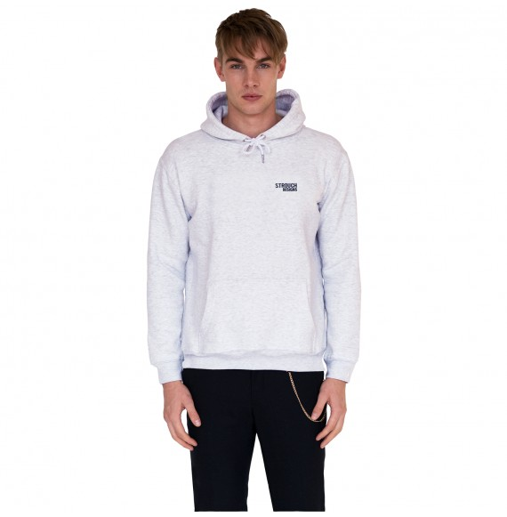 Grey hoodie small logo