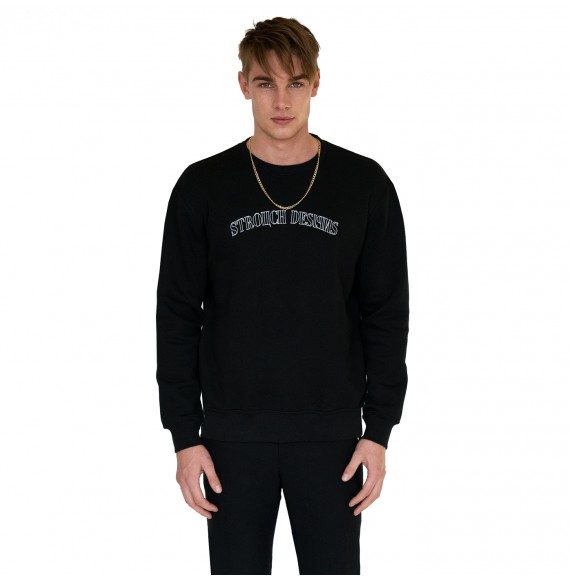 Black sweatshirt stretch design