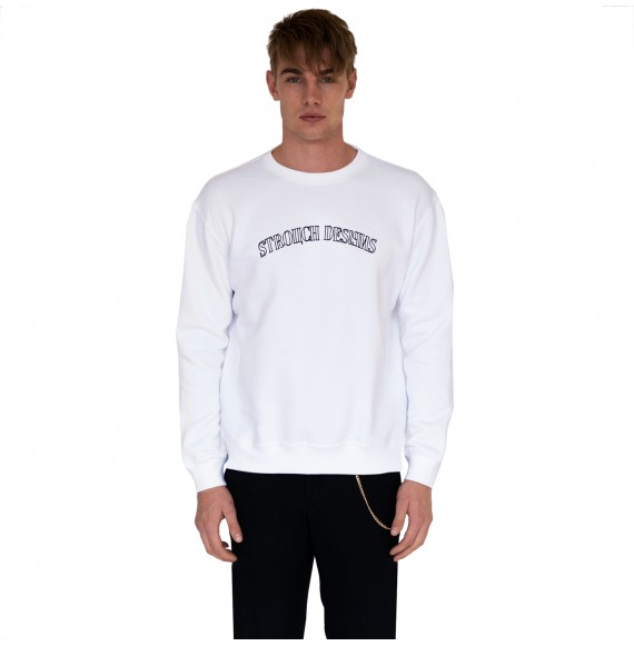 White sweatshirt Strouch designs