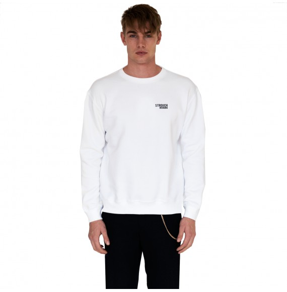 White sweatshirt small logo