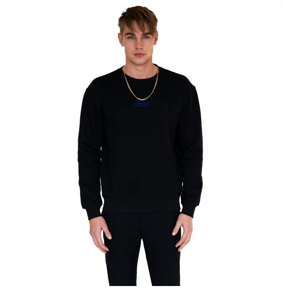 Black sweatshirt blue logo