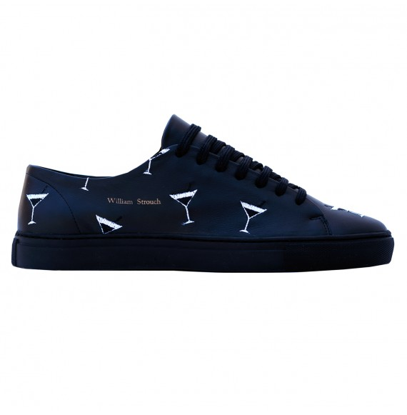 BLACK COCKTAIL EMBROIDERY SNEAKERS