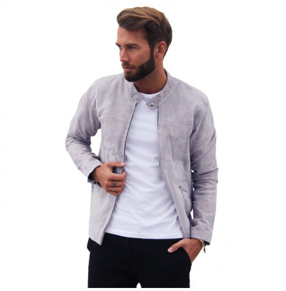Grey suede jacket