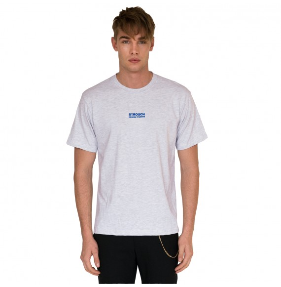 Grey t-shirt blue logo