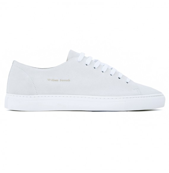 white suede sneakers