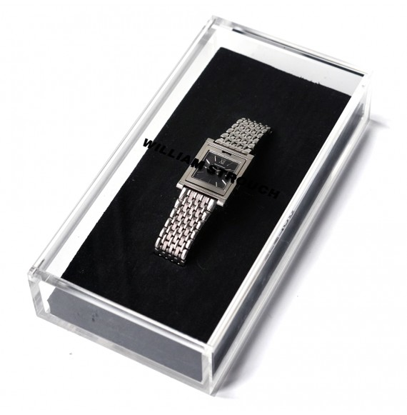 Silver reversible watch